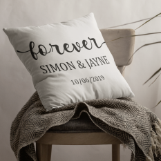 Hampers and Gifts to the UK - Send the Personalised Forever Cushion