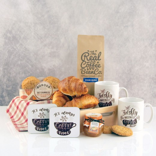 Hampers and Gifts to the UK - Send the Coffee for Two Breakfast Hamper