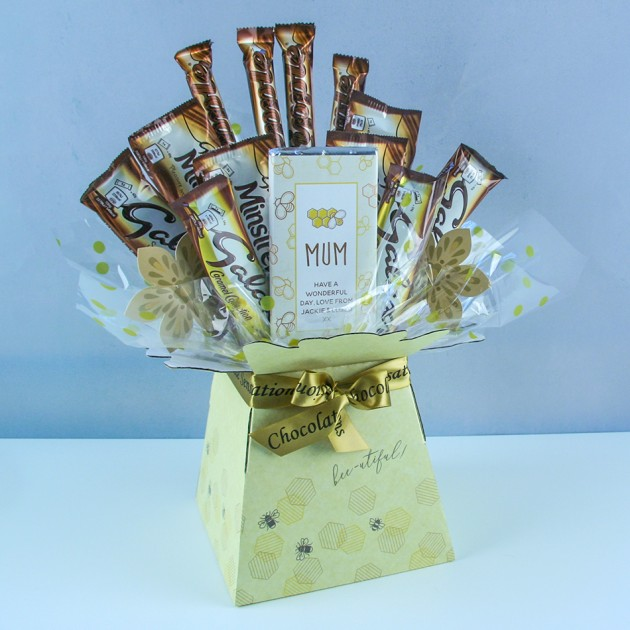 Hampers and Gifts to the UK - Send the Personalised Bee-utiful Galaxy Bouquet