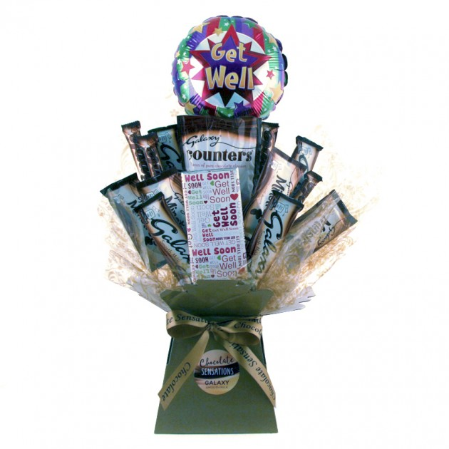 Hampers and Gifts to the UK - Send the Get Well Galaxy Chocolate Bouquet