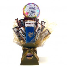 Hampers and Gifts to the UK - Send the Thank You Galaxy Chocolate Bouquet