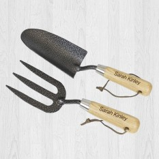Gardeners Personalised Fork and Trowel Set