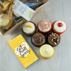 Hampers and Gifts to the UK - Send the Get Well Soon Heavenly Cupcakes