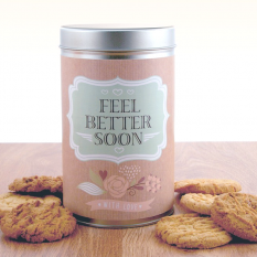 Hampers and Gifts to the UK - Send the Feel Better Biscuit Tin Vintage Style