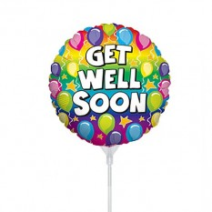 Hampers and Gifts to the UK - Send the Get Well Soon Balloon on a Stick