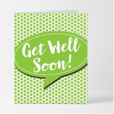 Hampers and Gifts to the UK - Send the Get Well Soon Speech Bubble Card