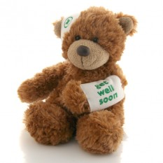 Hampers and Gifts to the UK - Send the Bonnie Get Well Soon Teddy Bear by Aurora