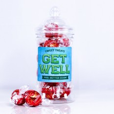 Hampers and Gifts to the UK - Send the GET WELL Lindor Truffles Sweet Treats