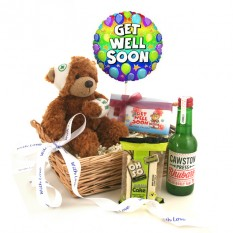 Hampers and Gifts to the UK - Send the Get Well Soon With Love Gift Basket