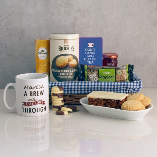 Hampers and Gifts to the UK - Send the A Brew Will See You Through Personalised Gift Basket