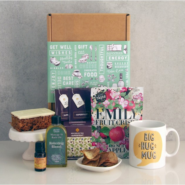 Hampers and Gifts to the UK - Send the Relaxatherapy Tea and Cake Hamper