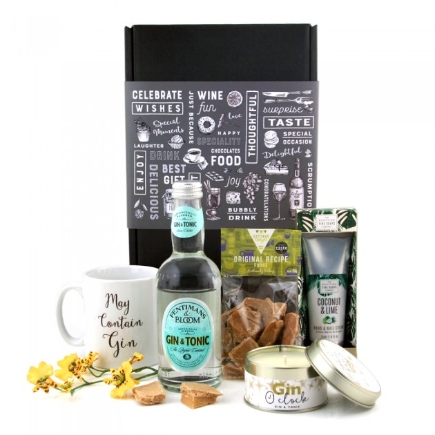 Hampers and Gifts to the UK - Send the Gin O'Clock Coconut & Lime Pamper Hamper