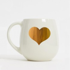 Hampers and Gifts to the UK - Send the Large Gold Heart Hug Mug