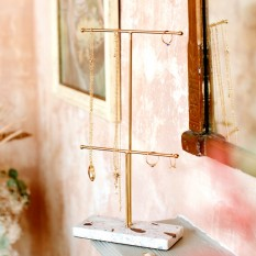 Hampers and Gifts to the UK - Send the Terrazzo Gold Jewellery Stand