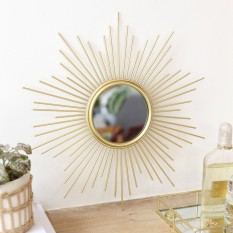 Hampers and Gifts to the UK - Send the Gold Sunburst Wall Mirror
