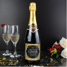 Personalised Label Champagne Gift