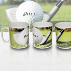 Hampers and Gifts to the UK - Send the Personalised Golf Gift Mug