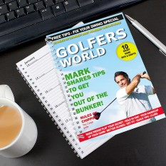 Hampers and Gifts to the UK - Send the Personalised Golfers World A5 Diary