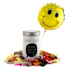 Hampers and Gifts to the UK - Send the Retro Sweets Gift Tin Good Luck