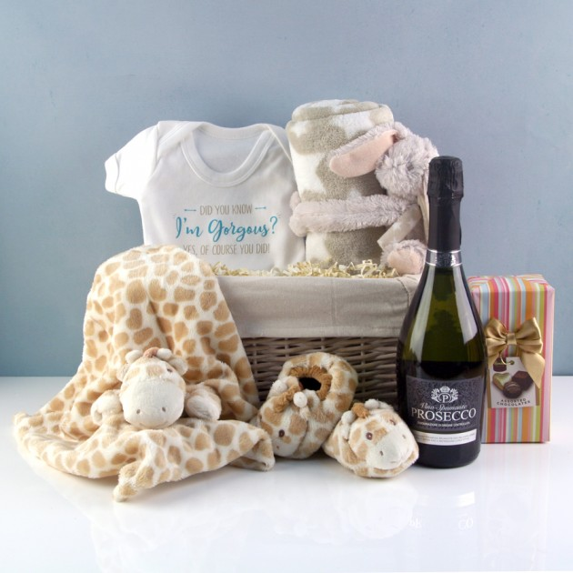 Hampers and Gifts to the UK - Send the Did you know I'm Gorgeous Baby Hamper