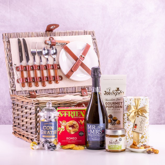 Hampers and Gifts to the UK - Send the Hamper of Treats for the New Mr and Mrs