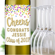 Hampers and Gifts to the UK - Send the Graduation Wine Gift with Confetti