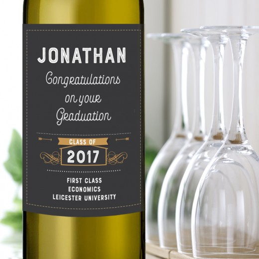 Hampers and Gifts to the UK - Send the Graduation Wine Gift - Vintage Style