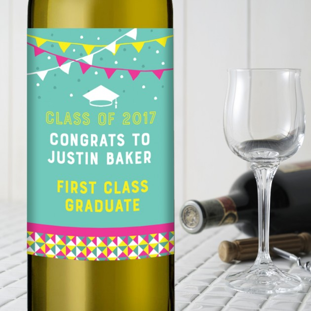 Hampers and Gifts to the UK - Send the Graduation Wine Gift - Bunting Celebration