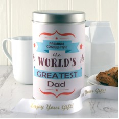 Hampers and Gifts to the UK - Send the Personalised Premium Cookies for the World's Greatest Dad