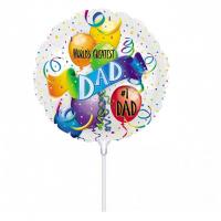"""World's Greatest Dad Balloon 9"""" +£3.35"""