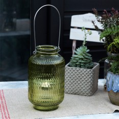 Hampers and Gifts to the UK - Send the Green Honeycomb Tea Light Holder