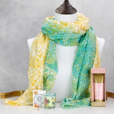Hampers and Gifts to the UK - Send the Jade & Citrus Scarf with Bohemia Floral Scents