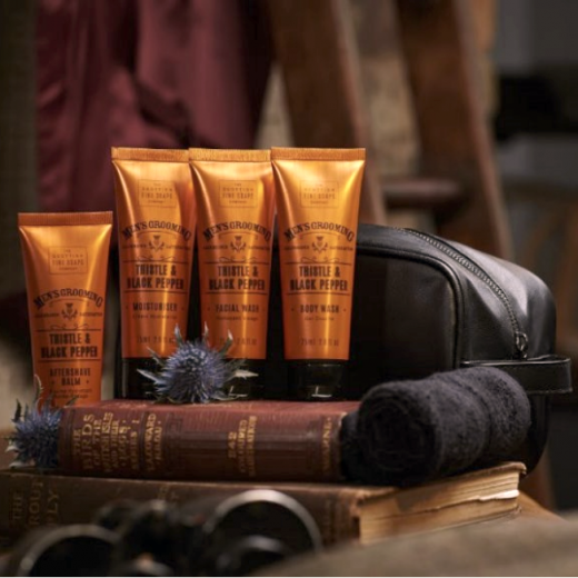 Hampers and Gifts to the UK - Send the  Men's Grooming Travel Bag - Thistle and Black