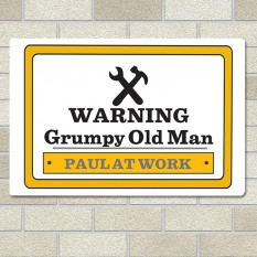 Hampers and Gifts to the UK - Send the Any Name Man at Work Sign