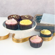 Hampers and Gifts to the UK - Send the Heavenly Cupcakes - Standard Gift Basket