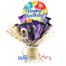 Hampers and Gifts to the UK - Send the Happy 40th Birthday Chocolate Bouquet In A Mug