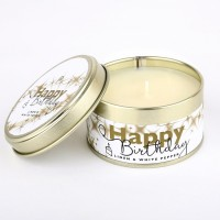 Happy Birthday Tin Candle +£5.95