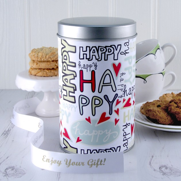 Hampers and Gifts to the UK - Send the Happy Tin with a Dozen Cookies