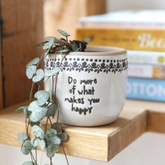 Hampers and Gifts to the UK - Send the Do More Of What Makes You Happy Planter