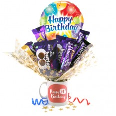 Hampers and Gifts to the UK - Send the Happy 21st Birthday Chocolate Bouquet In A Mug