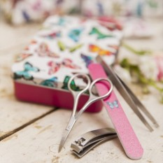 Hampers and Gifts to the UK - Send the Harlequin Manicure Tin Set