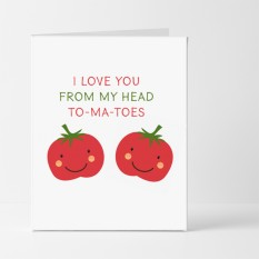 Hampers and Gifts to the UK - Send the I Love You From My Head To-Ma-Toes Card