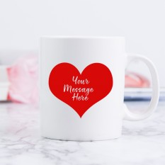 Hampers and Gifts to the UK - Send the Big Red Heart Mug