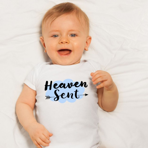 Hampers and Gifts to the UK - Send the Heaven Sent Baby Boy Onesie
