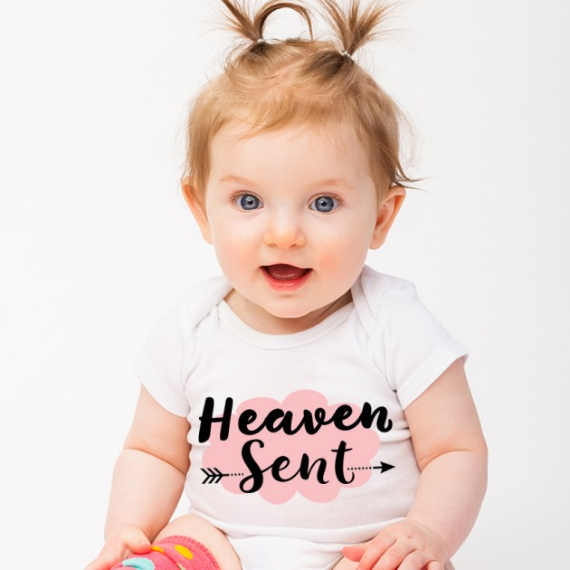 Hampers and Gifts to the UK - Send the Heaven Sent Baby Girl Onesie