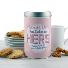 Hampers and Gifts to the UK - Send the Hands Off Her Cookies Tin