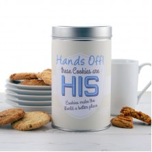 Hands Off His Cookies Tin