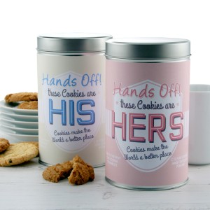 Hampers and Gifts to the UK - Send the Personalised Cookie Tins