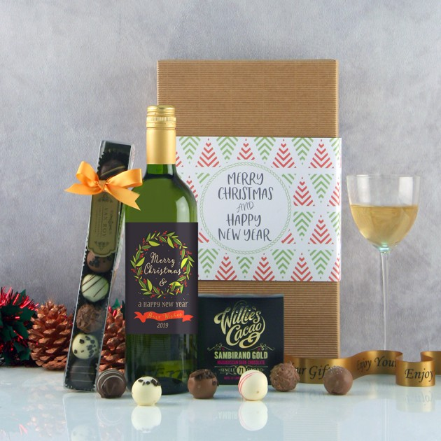 Hampers and Gifts to the UK - Send the Christmas Wine Gifts -  The Holly and the Berries