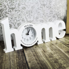 Hampers and Gifts to the UK - Send the Personalised Home Wooden Clock